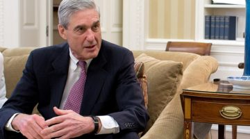 Robert Mueller sits in President Obama's Oval Office.